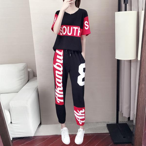2021运动套装女夏季韩版休闲两件套潮牌时尚洋气小个子女装夏