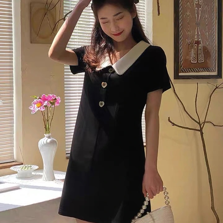 网红爆款 好质量 纯色连衣裙