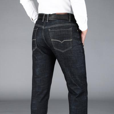 男士黑色牛仔裤宽松直筒商务男裤秋冬新款8958款