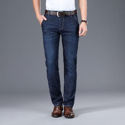 2020年春夏新款男式牛仔裤宽松直筒大码男士弹力长裤薄款8963