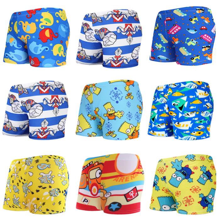 儿童泳裤可爱卡通中大男童小男孩舒适游泳短裤 -