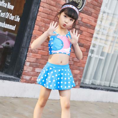 儿童泳衣女孩中大童公主可爱裙式