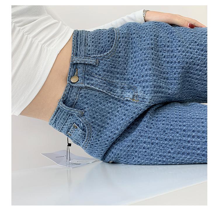 坠感牛仔裤女2021春夏季新款chic宽松高腰拖地裤百搭直筒阔腿裤子