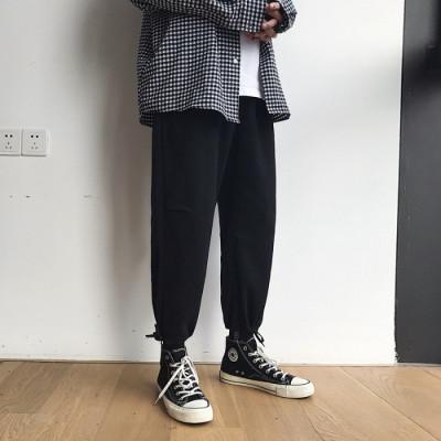 508#宽松休闲裤男韩版裤子学生潮流运动男裤ins直筒九分裤