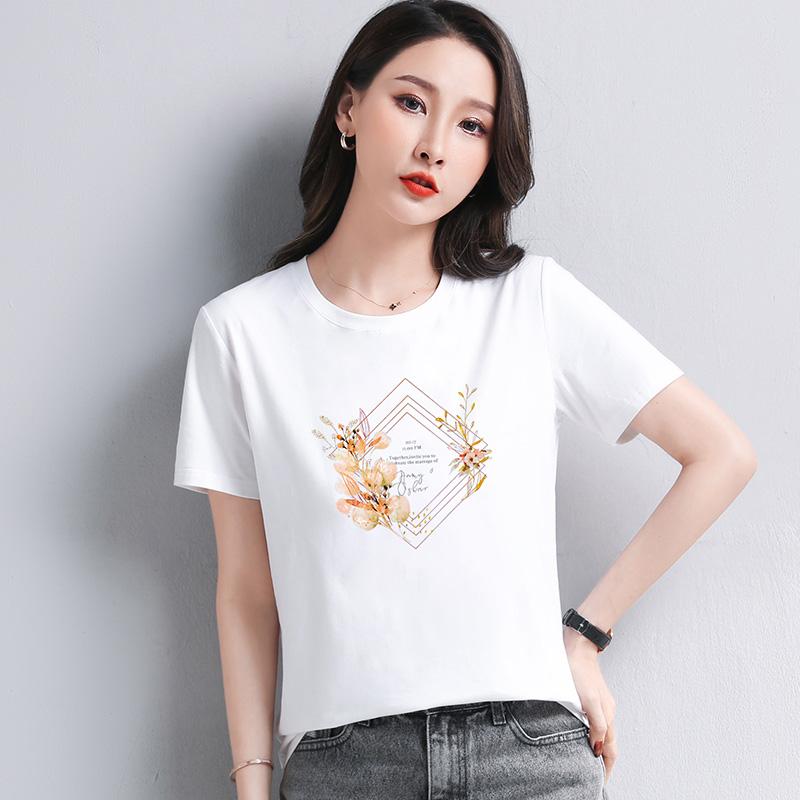 【短袖】2021夏季爆款ins风小众设计宽松显瘦简约时尚潮流实拍现货