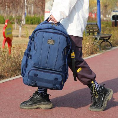 6156帆布大容量双肩背包户外运动旅行包                        6156帆布大容量双肩背包户外运动旅行包