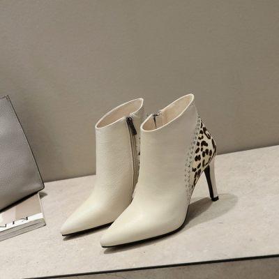 2017秋季打造爆款豹纹系列时尚尖头细跟短靴                        2017秋季打造爆款豹纹系列时尚尖头细跟短靴
