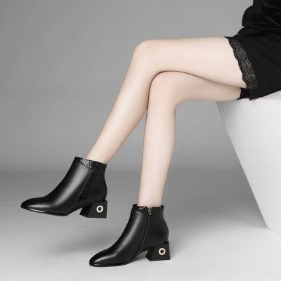 欧美风 短靴 粗跟                        欧美风 短靴 粗跟